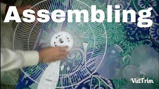 How to assemble USHA Max air Pedestal Fan.