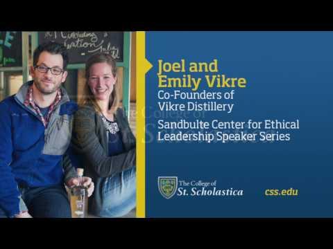Sandbulte Center for Ethical Leadership Speaker Series: Joel and Emily Vikre