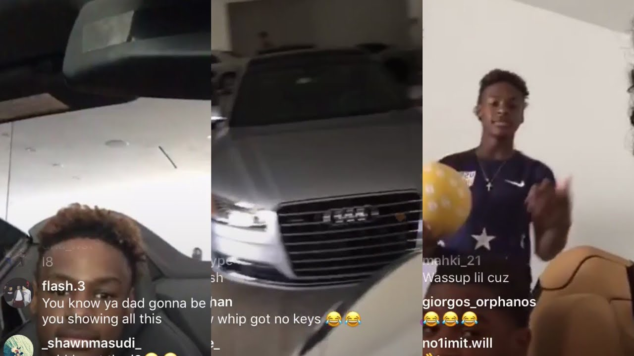 Mikey Williams Gives A Tour Of Lebron James Cars Youtube
