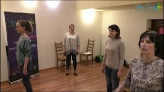 БОЛЬШОЙ ТРЕНИНГ по постановке осанки, певческого дыхания и артикуляции (фрагменты занятий)