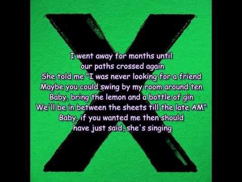 Ed Sheeran - Don't (Lyrics)