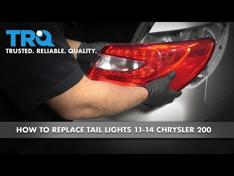 How to Replace Tail Light 11-14 Chrysler 200