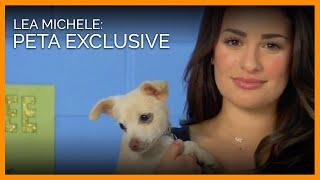Lea Michele Interview for PETA