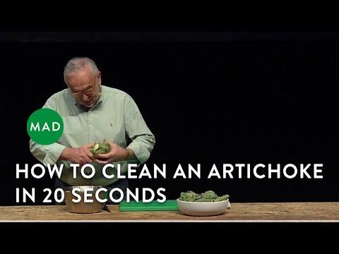 Pierre Koffmann Cleans an Artichoke in 20 Seconds