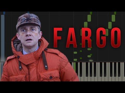 FARGO TV SERIES Theme Tune  Easy Piano Tutorial Synthesia