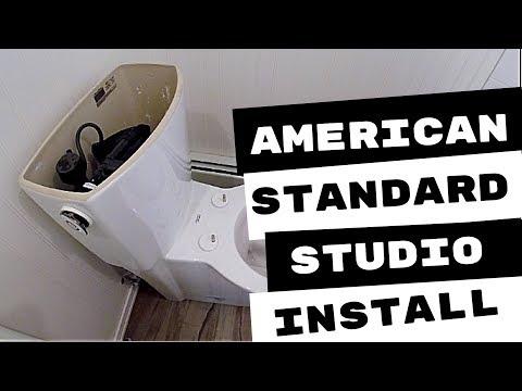 American Standard Studio Activate Toilet Installation