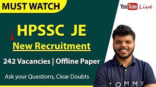 HPSSC JE New Vacancies 2020 | New RECRUITMENT | CIVIL | MECHANICAL | Electrical