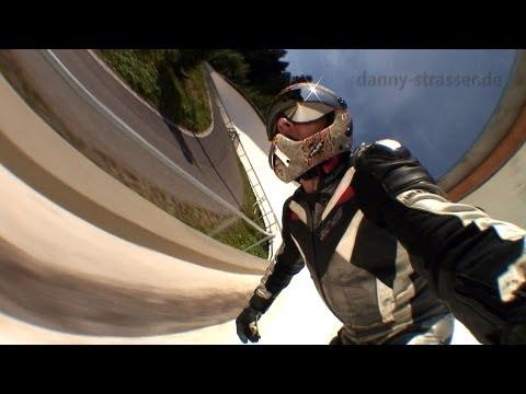 bobsled race track downhill skateboarding