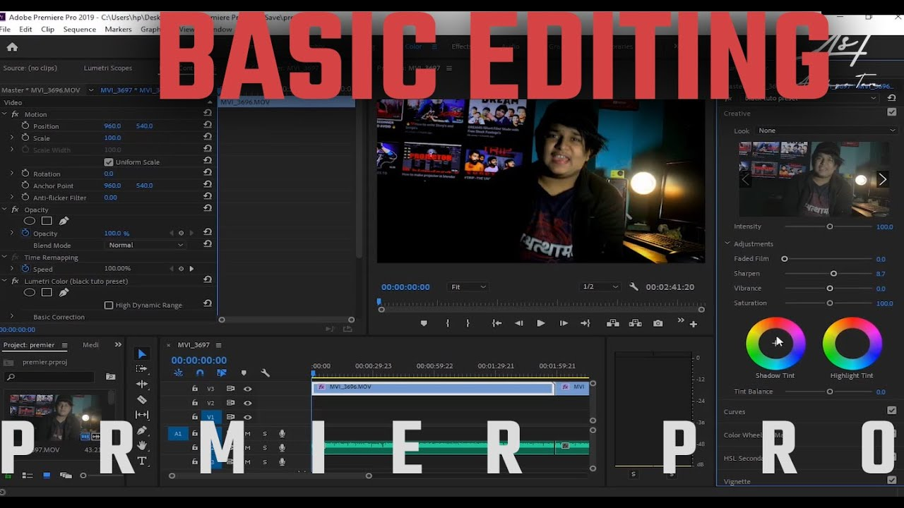 HOW TO EDIT YOUTUBE VIDEOS #BASIC 👍🔥❤️
