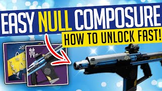 Destiny 2 | EĄSY NULL COMPOSURE! Fastest Way To Get Season 14 Ritual Weapon! - Season of the Splicer
