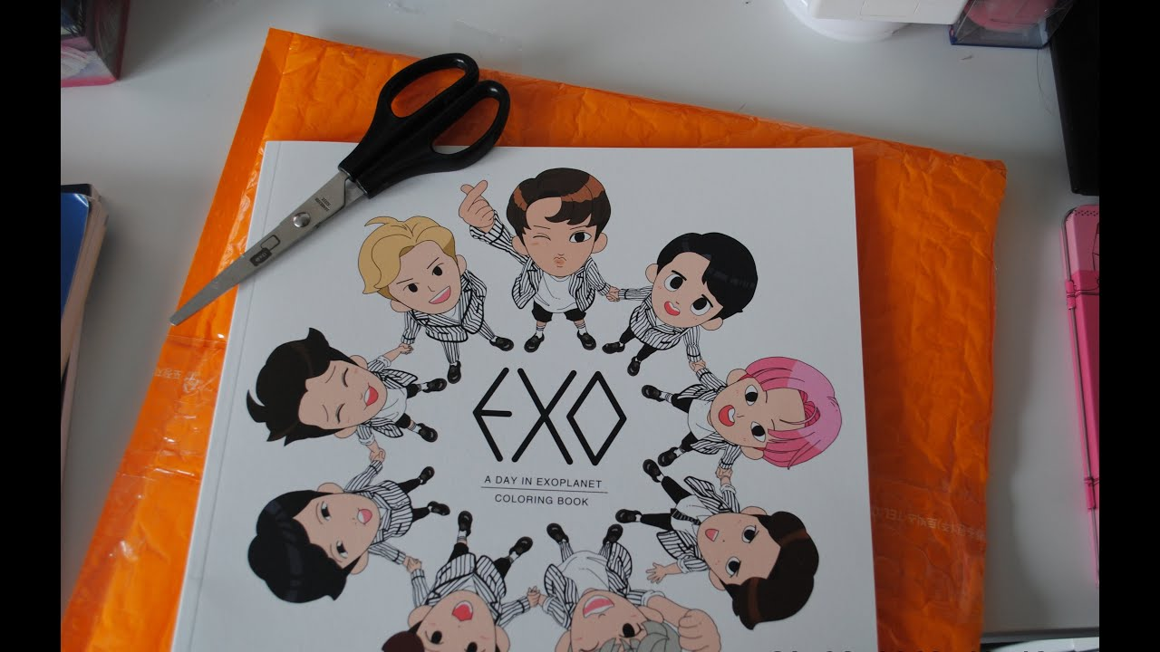 Unboxing EXO Coloring Book