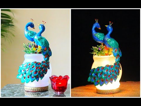 DIY Peacock Lamp using Clay for Home Decor/Diwali Special Lamp
