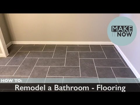 How To Remodel A Bathroom Flooring Youtube