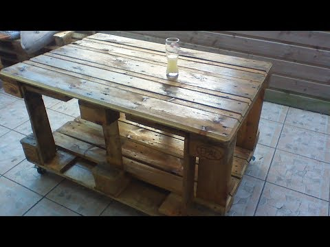 DIY Fabriquer table de salon de jardin en palettes Europe EPAL - YouTube
