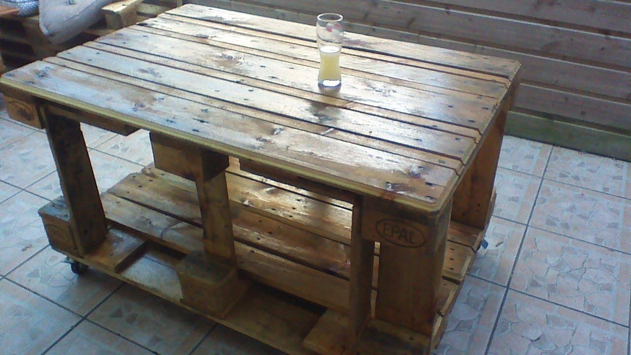 DIY Fabriquer table de salon de jardin en palettes Europe ...
