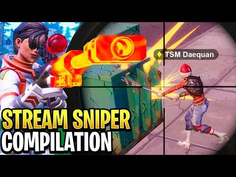 Best Fortnite 'Stream Sniper' Compilation! #4