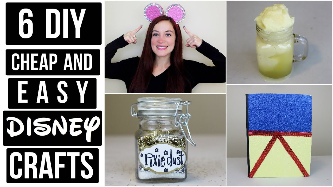 CHEAP AND EASY DISNEY DIY CRAFT IDEAS #2 | PINTEREST ...