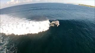 Surfing the Maldives: Jails and Honkeys with The Perfect Wave | Drone surfing footage