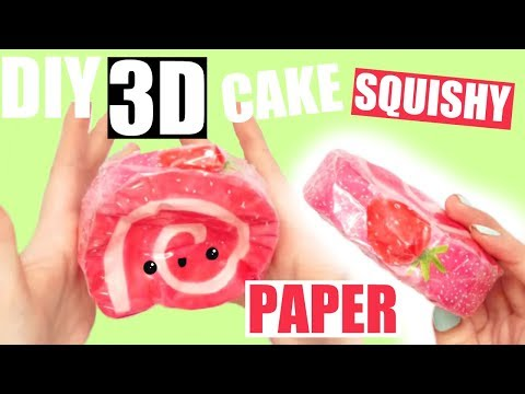 DIY 3D PAPER SQUISHY | CAKE ROLL