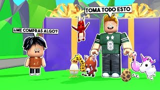 😭 I PRETEND TO BE A POBRE BABY AND FIND A RICO PARENT in ADOPT ME ROBLOX 🤑
