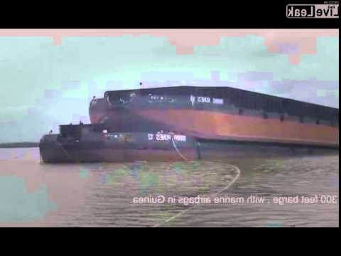 Launches 1300 tons barge from barge carrier with balloons