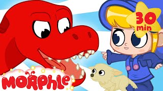 Dinosaur Scares Puppy! - Morphle and Mila | Dinosaurs Videos | Cartoons for Kids | Morphle TV