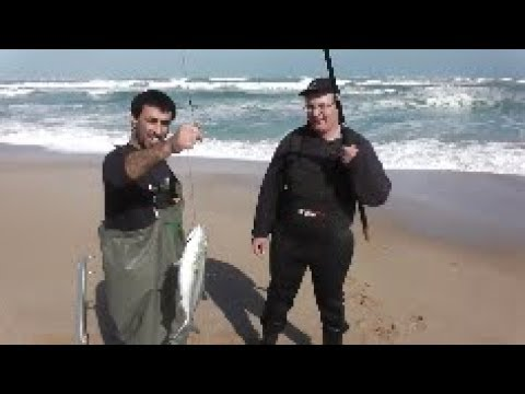 Surf Fishing At The Coorong Beach In South Australia
