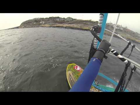 Windsurfing - Early planing in light wind (Gear & how to tips in text below  film)
