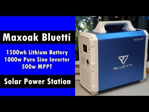 "New 1500wh ""Bluetti"" Solar Generator: Lithium Battery + MPPT + Inverter Power Box"