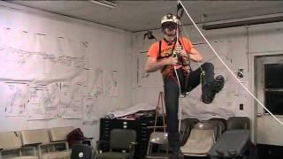 Blindfolded changeover caver SRT technique