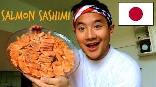 Eating Show :: A Lot of Salmon Sashimi thumbnail
