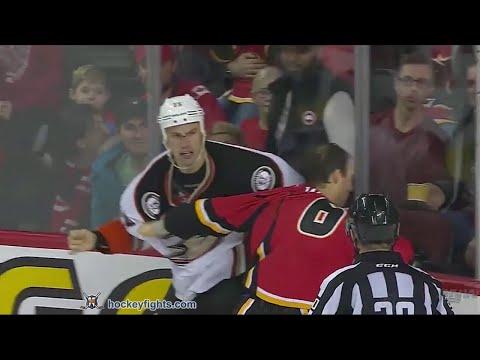 Ryan Getzlaf vs Dennis Wideman Dec 29, 2015