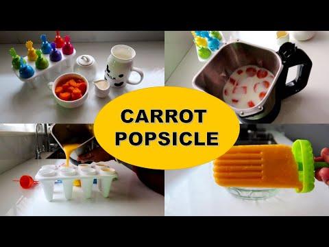 Carrot Popsicle Recipe in Tamil - கேரட் பாப்சிகில் Recipe
