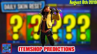 August 8th Fortnite Itemshop Predictions 2019 (NEW SKIN??)