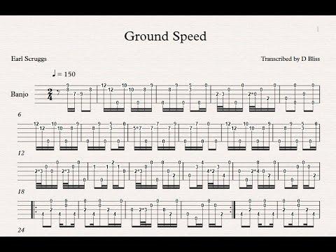Earl Scruggs Ground Speed Tab YouTube