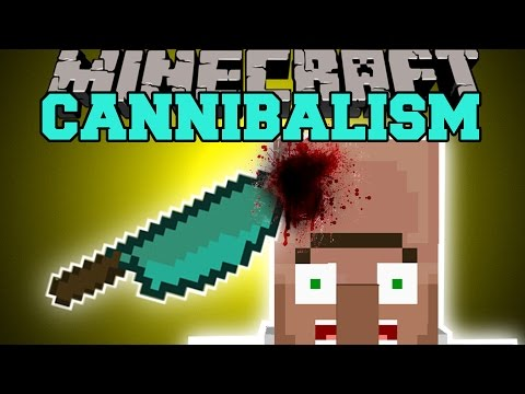 Minecraft: CANNIBALISM MOD (PEOPLE ARE FOOD TOO!) Mod Showcase