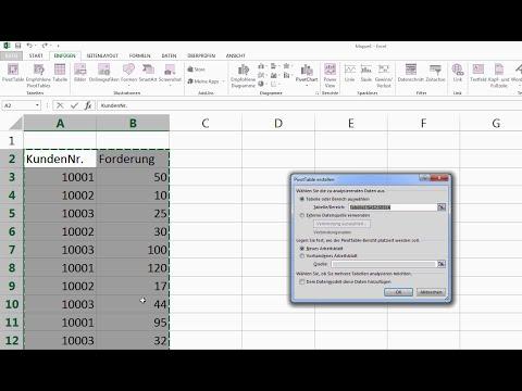Excel Pivot Tabelle