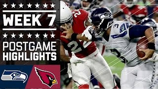 Seahawks vs. Cardinals | NFL Week 7 Game Highlights