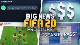 LEAKED FIFA 20 PRO CLUBS INFORMATION...