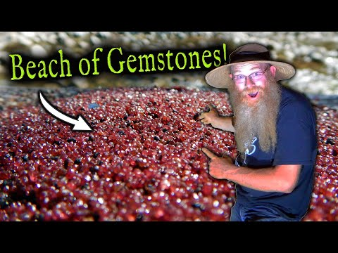Why Are There 96,000,000 Red Gem Stones On This Beach!