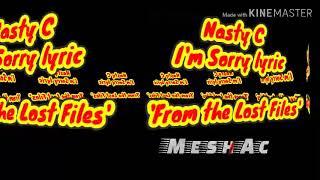 Nasty C~I'm sorry Lyric video