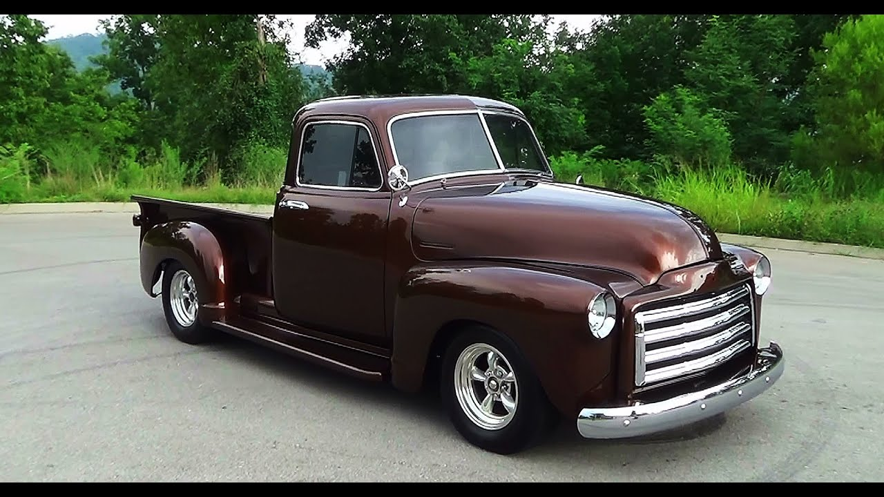 1955 chevrolet hot rod truck pictures to pin on pinterest - A 1953 Gmc Pickup That Is Just Leaving Steve Holcomb Pro Auto Custom Interiors Hot Rod Joe Built The Truck