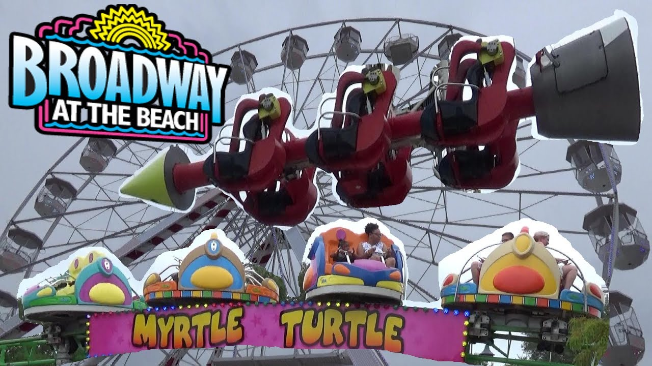 The Rides At Broadway Beach Pavillion Park Tour Review