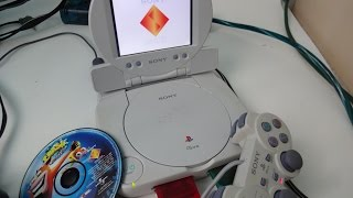 PSone slim with lcd review + how to use the lcd with other systems -TECH