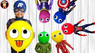 동기 부여 클레이도우로 슈퍼히어로 타노스 인형 찾고 신나게 춤추자 Find the superhero Thanos doll dance with jihwan
