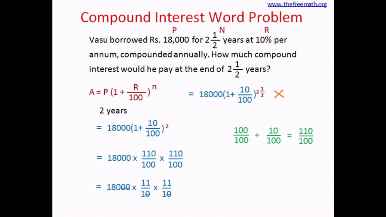 worksheet Compound Interest Word Problems Worksheet compound interest word problem 3 youtube 3