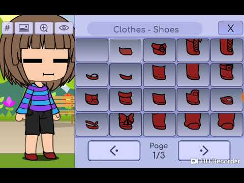 Making Frisk and Chara from undertale in gacha life