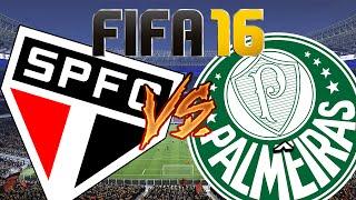 FIFA 16 - São Paulo x Palmeiras Primeiro Gameplay