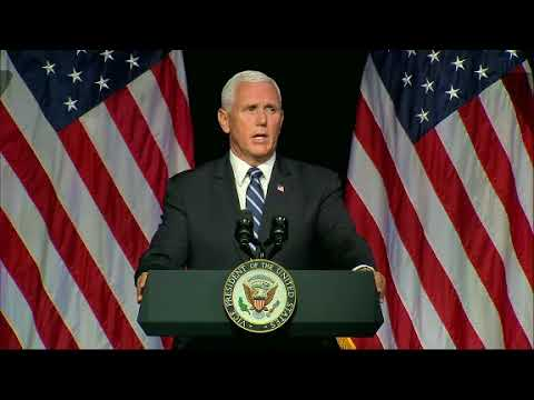 Vice-President Mike Pence announced plans Thursday for a new, separate U.S. Space Force as a 6th military service by 2020 to ensure America's dominance in space amid heightened completion and threats from China and Russia.