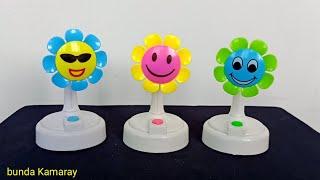Bermain Kipas Angin Putih dan Baling Serutan Bunga Matahari - Fan Toy